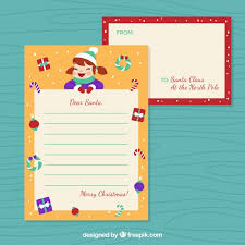 template of a letter to santa from a vector free download