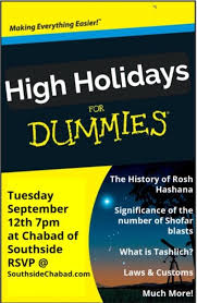 holidays for dummies high holidays for dummies chabad southside