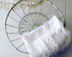Shabby Chic Wire Basket by Painted Wire Basket Etsy