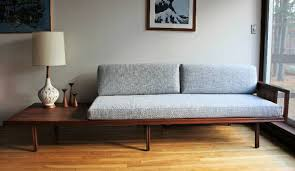 blue lamb furnishings mid century modern daybed sofa sold