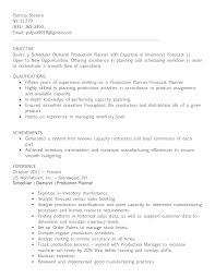 Sample Manufacturing Resume by Demand Planner Resume Sample Resume For Your Job Application