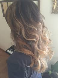 does hair look like ombre when highlights growing out loving my hair right now black to honey blonde balayage ombré and