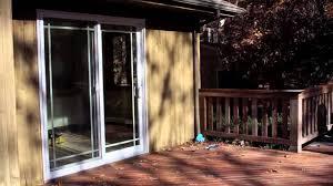 anderson sliding glass door renewal by andersen long island patio doors install youtube
