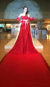 Red Carpet Entertainment Red Carpet Champagne Dress