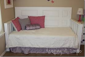 how to make a daybed frame easy diy furniture diy daybed made from a door and 2x4s keeping