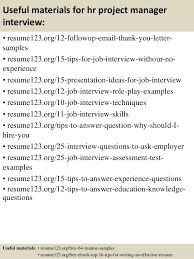 Project Management Resume Samples by Top 8 Hr Project Manager Resume Samples
