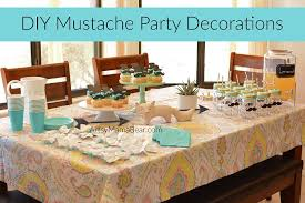 bow tie themed baby shower diy mustache party decorations artsy
