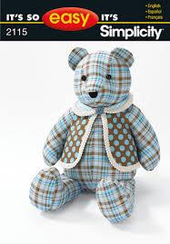 shift pattern en español simplicity 2115 18 bear and vest