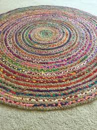 recycled hand braided round area rug 100 by greenatheartrugs