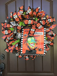 how to make a halloween wreath with mesh ribbon 2017 halloween witch stop in for a spell wreath tutorial trendy