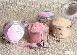 diy soaking salt scrub wedding favors soap