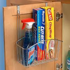 bathroom stainless steel bathroom storage basket inside cabinet