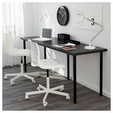 Ikea Desk Linnmon Adils Table White Blue Ikea