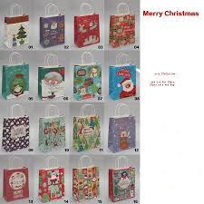 2016 new year merry christmas paper bags with haddle christmas
