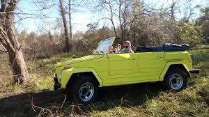 volkswagen thing 1974 volkswagen thing drifting on grass offroad youtube