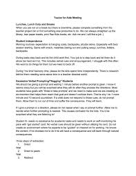 Quarterly Meeting Agenda Template paraprofessionals u0026 aides the eager teacher