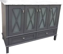Hobo Kitchen Cabinets Hobo Madeira Vanity In Grey With White Carrara Top Bathroom Make