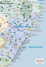 Drakensberg Mountains Map Kwazulu Natal Map Caravanparks Com Maps Caravan Parks Holiday