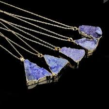 quartz necklace aliexpress images Free solar powered organic quartz necklace 24k gold dipped jpg