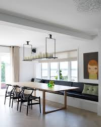 Dining Room With Bench Seating Piet Boon Residential Project Candle Lamp Boon And Banquet