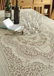 classic large lace tablecloth traditional 70 x 126 ecru