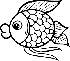 big mouth cartoon fish coloring page sheet wecoloringpage