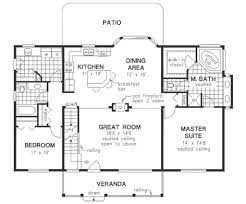 House Plans With Vaulted Great Room by Ranch Style House Plan 2 Beds 2 00 Baths 1894 Sq Ft Plan 18 4510