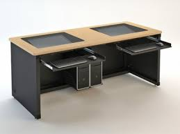 Recessed Computer Desk Downview Computer Desk Dv Education Versatables