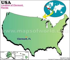 clermont fl map where is clermont florida