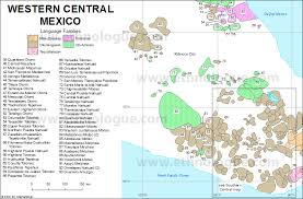 map central mexico western central mexico ethnologue