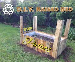 Standing Planter Box Plans by How To Make A Raised Bed Garden Box From Wood Pallets 5 Steps