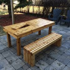 Garden Table Ana White Diy Patio Table U0026 Bench Diy Projects