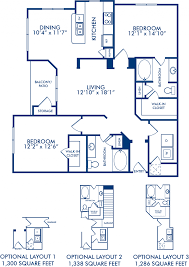 blueprint floor plan 1 2 u0026 3 bedroom apartments in spring tx camden spring creek