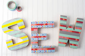 Sewing Room Decor Diy Washi Letter Craft Create Sewing Room Decor Dma Homes