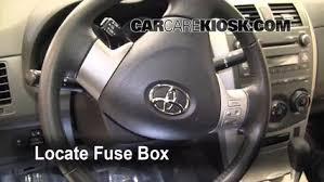 2010 toyota corolla maintenance light interior fuse box location 2009 2013 toyota corolla 2010 toyota