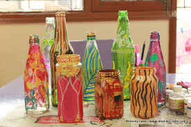 Design For Vase Painting Hand Painted Glass Bottles And Jars Different Ways To Paint