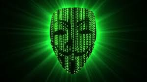 anonymous mask digital of numbers falling and forming fawkes anonymous