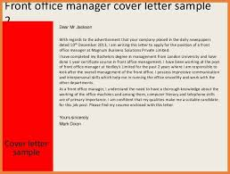 front office agent cover letter sample cover letter templates