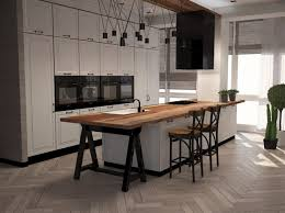 cuisine blanche plan de travail bois quel plan de travail choisir 30 modèles inédits en granit
