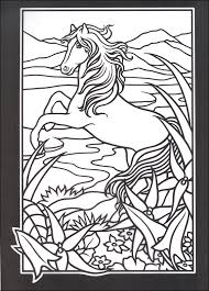 stained glass coloring pages horse nature coloringstar