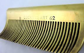 vintage comb vintage brass iron hair straightening comb from