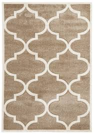 Large Modern Rug by Buy Icon Large Modern Trellis Rug Beige At Cheapest Rugs Online