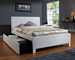 Pictures Of Trundle Beds Bedroom Simply Trundle Bed With Stripped Bedding For Kids Bedroom