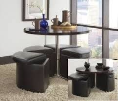Coffee Table With Ottomans Underneath Foter - Kitchen table with stools underneath