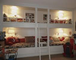 Bunk Beds For 4 Built In Bunk Bed Valuable 21 Playroom Built In Bunk Beds
