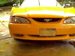 do it yourself car paint yellow mustang youtube