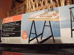2 x powerfix folding sawhorses also make perfect trestle stands