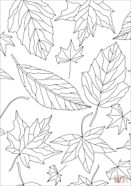 coloring pages fall printable autumn leaves pattern coloring page free printable coloring pages