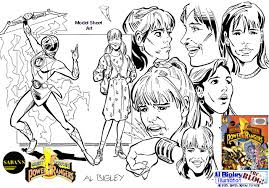 al bigley illustration blog power rangers character model