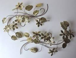 Metal Flower Wall Decor - metal leaf wall hanging foter